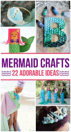 Adorable Mermaid Crafts for Kids So many fun mermaid crafts for kids that everyone will love.So many fun mermaid crafts for kids that everyone will love. Girls Mermaid Tail, Mermaid Kids, The Little Mermaid, Little Mermaid Crafts, Mermaid School, Summer Crafts, Diy Crafts For Kids, Fun Crafts, Arts And Crafts