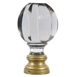 Napoleon Lll Crystal And Brass Bannister Finial From France Originally  These Crystal Finials Or Boule D