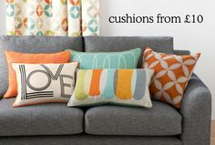 Are you counting the days till payday? Relax in style with some stylish cushions from our new Studio range.