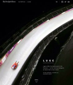 Luge track is so fast, they had to slow it down. I HIGHLY recommend click through for article about the luge track, take a ride on the inside! Winter Olympics 2014, Luge, Important Things In Life, Slow Down, Olympic Games, Ny Times, Athlete, Track, Names