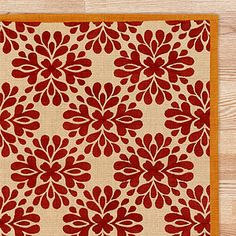 Cost Plus has great inexpensive rugs - this one looks like one from Antrhopologie