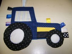 Tractor Crinkle Toy with ribbons Patchwork Ford by civilwarlady, $19.99