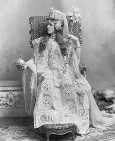 Lady Randolph Churchill as the 6th century Theodora at the Devonshire House Ball.