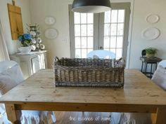 The Essence of Home: Old French Basket