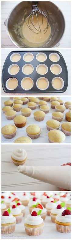 These vanilla cupcakes are perfect every time! They go well with any topping. My go-to vanilla cupcake recipe!