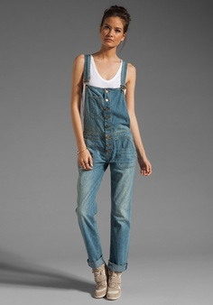 TEXTILE ELIZABETH AND JAMES Painter Overall in Domino at Revolve Clothing - Free Shipping!