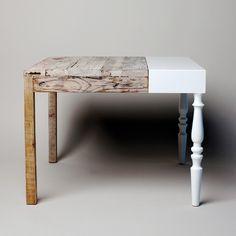 Comment redonner vie à deux vieilles tables: n'en faire qu'une!  http://milkdecoration.com/