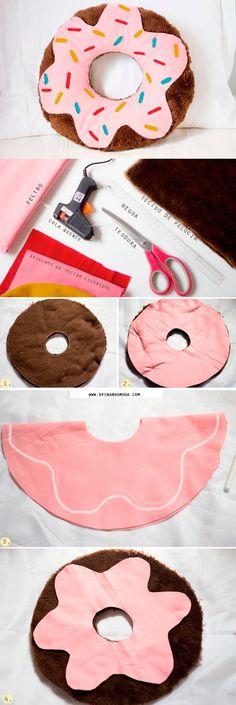 DIY almofada donut pillow: