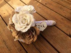 Large Burlap Bouquet - Shabby Chic Wedding - Rustic Wedding - Rustic Bouquet - Rustic Wedding Bouquet - Burlap Wedding by CountryBarnBabe on Etsy