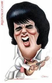 Afbeeldingsresultaat voor elvis presley caricatures