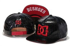 DC Shoes Snapbacks All Leather Brim Red Logo|only US$20.00 - follow me to pick up couopons.