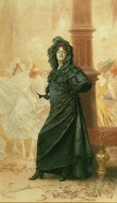 Frederik Hendrik Kaemmerer (1839-1902) - A fashionable lady at the masquerade ball