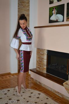 Ukraine, ♥ , from Iryna Iranian Women Fashion, Muslim Fashion, Embroidery Fashion, Embroidery Dress, Dress Outfits, Fashion Dresses, Diy Clothes, Clothes For Women, Look Formal