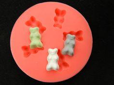 Silikonformen - Silikonform Gummibärchen - ein Designerstück von luflom-design bei DaWanda