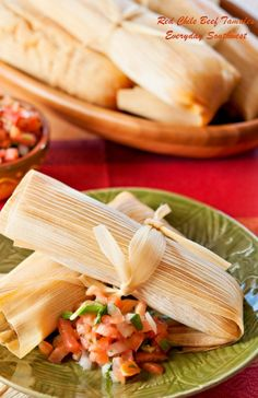 Moms Red Chili Beef Tamales !