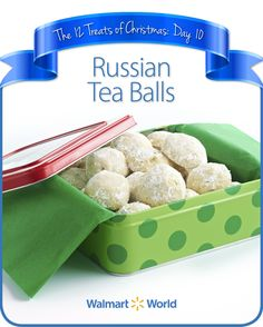 "On the 10th day of #Christmas, my fellow associate gave to me … Russian Tea Balls! ""My wife's grandmother made the best Russian Tea Balls, and now we make them with her recipe every year, at least three times, because everyone wants them!"" says Eric W. of Store 2098 in Columbus, Ohio. #12DaysOfChristmasTreats #dessert #recipes"