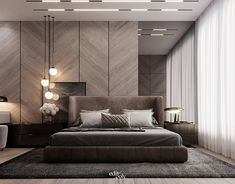 Modern Master Bedroom on Behance Modern Luxury Bedroom, Luxury Bedroom Design, Master Bedroom Interior, Modern Master Bedroom, Home Room Design, Minimalist Bedroom, Luxurious Bedrooms, Modern Room, Bed Design
