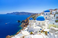 """Santorini Island, Greece – 1 of the Most Beautiful Islands to Travel to """".my video of our adventure to Santorini! Best Places To Honeymoon, Best Honeymoon Destinations, Dream Vacations, Romantic Honeymoon, Travel Destinations, Vacation Travel, Romantic Travel, Cheap Honeymoon, Honeymoon Fund"""