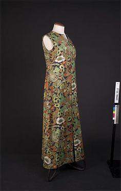 1965 silk dress by Annabelle Gale Ref:1990.33.4