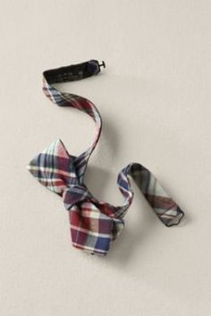 Men's Madras Bowtie  from Lands' End Canvas #landsendcanvas