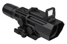 ADO Scope, Sniper Reticle with Flip Up Red Dot Optic, BlackManufacture ID: Dual Optic (ADO) variable magnification scope wit Rifles, Ar Rifle, Rifle Scope, Red Dot Sight, Shooting Guns, Shooting Sports, Concept Weapons, Military Gear, Military Style
