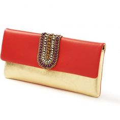 FW 2103 - Nanni Milano Gold and red Clutches, Red, Bags, Fashion, Taschen, Schmuck, Handbags, Moda, Fashion Styles