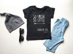 So Fresh So Little - Unisex Toddler T-Shirt - Trendy - Modern - Kids - Photoshoot by LittlePiggyToesCo on Etsy