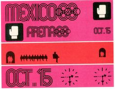 Boxing Ticket for Mexico Olympic, 1968 Designed by Lance Wyman & Beatrice Colle