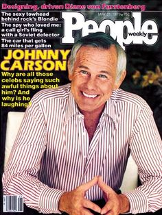 photo | The Tonight Show with Johnny Carson, Famous Comedians, Johnny Carson Cover, Johnny Carson