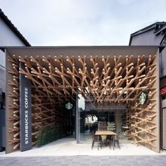 Starbucks Coffee Shop by Kengo Kuma and Associates - why don't OUR starbucks look like this??