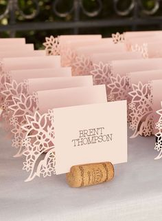 From invitations to decorations, create the wedding you've always pictured with Cricut. | Escort card ideas