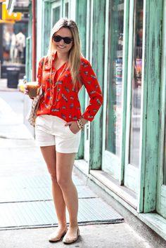 C.Wonder Blouse + Gap Shorts
