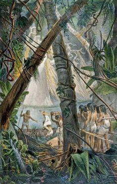Goyanas Indians by Jean Baptiste Debret (1768-1848, France)