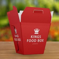 Food Box Vol.1 Mock-up Template by ItemBridge, via Behance