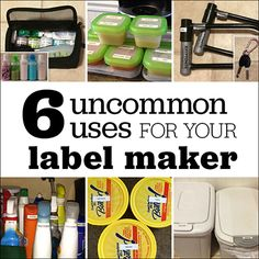 6 uncommon uses for your label maker! Our Moe-Mama Blogger, Valerie Moe, shares tips like this in addition to personal product reviews based on her experiences as a mother of 3 (including twins!) --- Container labels that can survive the dishwasher | Minnesota Parent