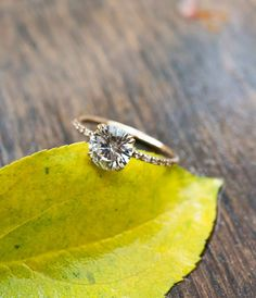 Moissanite Solitaire Engagement Ring by S.Kind & Co. See more here: http://skind.nyc/collections/our-timeless-favorites-made-to-order-just-for-you/products/2-carat-forever-one-dunne-solitaire
