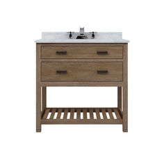 "Toby 36"" One Drawer Vanity with Open Shelf $1100"