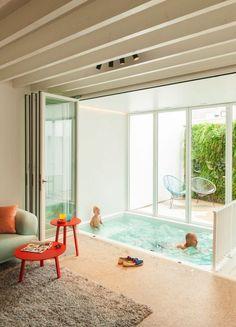piscina salón decoración casas