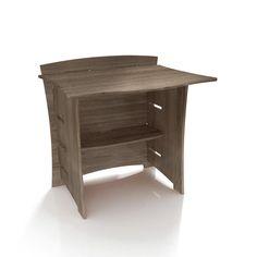 "Driftwood 32"" H x 29"" W Desk Bridge"