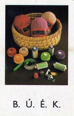 1982 | Kártyanaptárak - Röltex - régi cérna, fonal - kötés, varrás