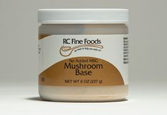 RC No Added MSG Mushroom Base creates a rich brown mushroom stock. A light brown granular base and seasoning with no added MSG, it is made with mushroom extract and dehydrated mushrooms. It is vegetarian, it contains no meat or egg products. This base dissolves in water or other liquids to enhance stocks, soups, sauces, gravies and stews. Can also be used as a seasoning for dressings, dips, spreads, vegetables and rice dishes. Available in 8 oz. single jars and 6/8 oz. cases.