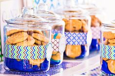 """Love the idea of Cookie Monster theme and have a """"cookie bar"""" with TONS of different kinds.  Then kids can pick some to put in bag as favor."""