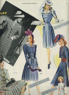 Timelessly pretty 1940s daywear dresses. #vintage #1940s #fashion