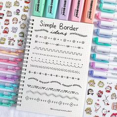 Doodle ideas to try in your bullet journal. Have fun decorating your bujo (bullet journal) with these creative doodle ideas. Bullet Journal Inspo, Bullet Journal Instagram, Bullet Journal Headers, Bullet Journal Banner, Bullet Journal 2019, Bullet Journal Notebook, Bullet Journal Aesthetic, Bullet Journal Ideas Pages, Bullet Journal Layout