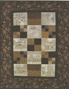 Northwoods Memories Quilt Pattern - 12 Redwork Embroidery Blocks ... : embroidered quilts patterns - Adamdwight.com