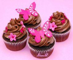 cupcake ideas   Ideas Originales para Cupcakes butterfly-choco-cupcakes – Mas Ideas ...