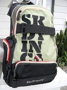 I love skate straps on backpacks.