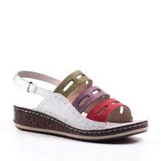 Emotion Womens Black Leather Slip on Wedge Sandals  Size UK 5 EU 38 Wide Fit