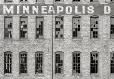 Abandoned factory in Minneapolis 1939.