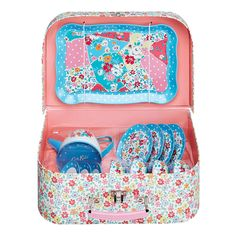 Garden Ditsy Tin Tea Set | Toys | CathKidston - I know so many little ones who would love this!